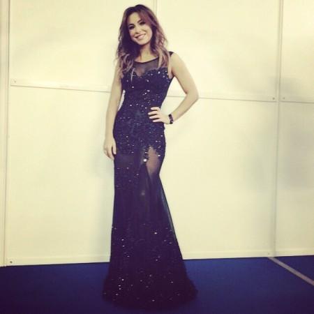 Ани лорак в черном платье