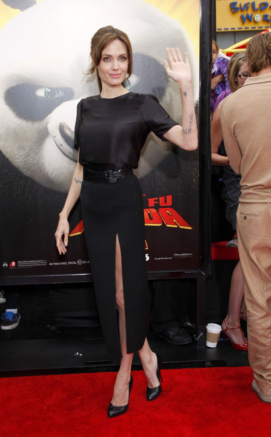 "61554, HOLLYWOOD, CALIFORNIA - Sunday May 22, 2011. Angelina Jolie attends the Los Angeles premiere of ""Kung Fu Panda 2"" held at the Grauman's Chinese Theater, Los Angeles. Photograph: © Tuukka Jantti, PacificCoastNews.com **FEE MUST BE AGREED PRIOR TO USAGE** **E-TABLET/IPAD & MOBILE PHONE APP PUBLISHING REQUIRES ADDITIONAL FEES** UK OFFICE:+44 131 557 7760/7761 US OFFICE:1 310 261 9676"