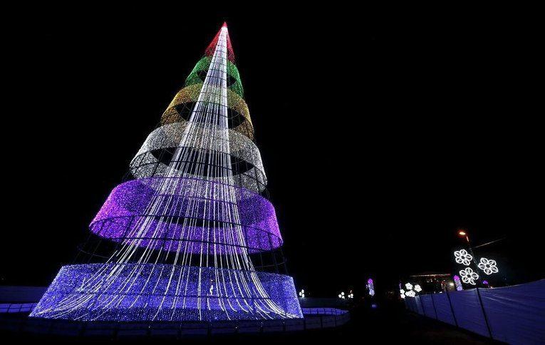 Необычно-красивая новогодняя елка