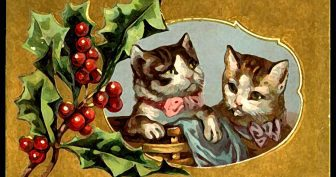 Ретро новогодние открытки и картинки ( 20 фото )