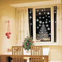 Картинки новогодние на окна ( 45 фото)