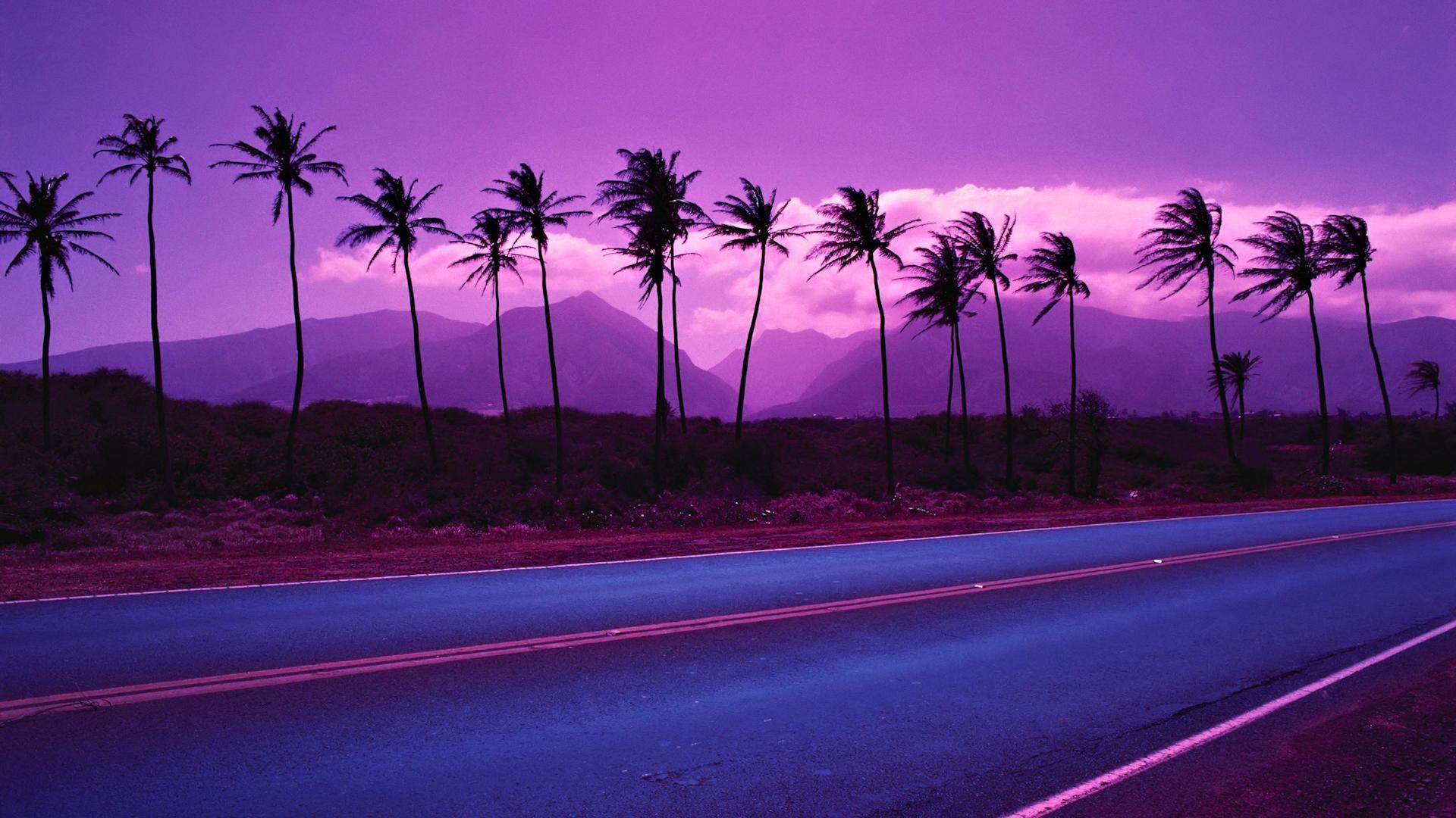 Закат и дорога