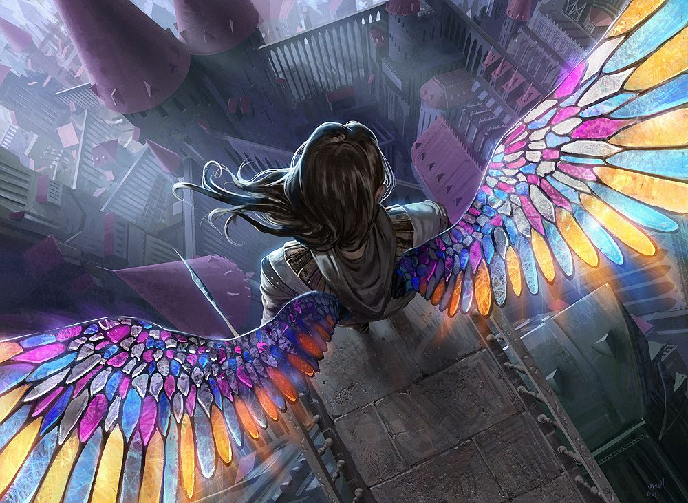 Девушка с крыльями ангел
