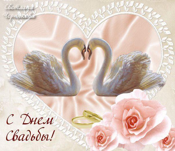 открытки с днем свадьбы картинки