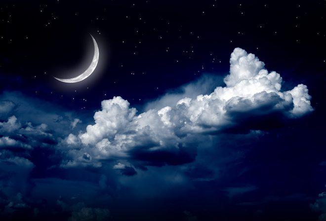 Лунное небо картинки