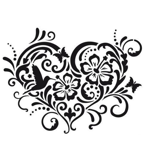 Как рисовать узоры сердце