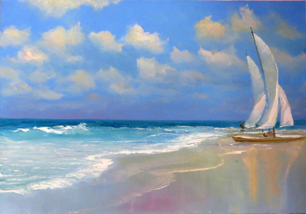 Картинки закат на пляже 1