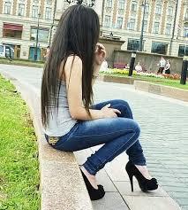 Брюнетки с длинными волосами со спины на аву