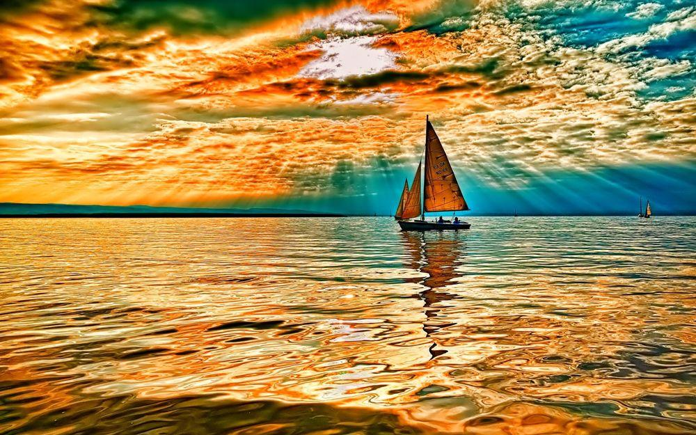 Фото закат над морем