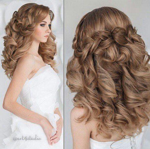 красивые причёски на длинные волосы фото на свадьбу