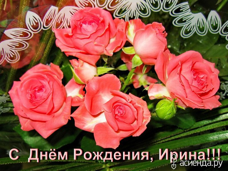 Фото поздравления с днем рождения ирина