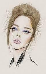 Рисованные симпатичные девушки