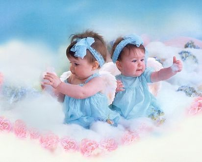 Красивые картинки ангелочков с крыльями