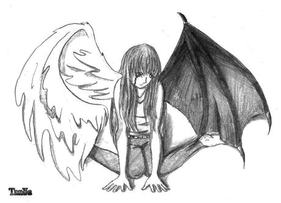 крылья рисунки простым карандашом