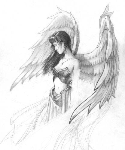 фото ангел рисунок