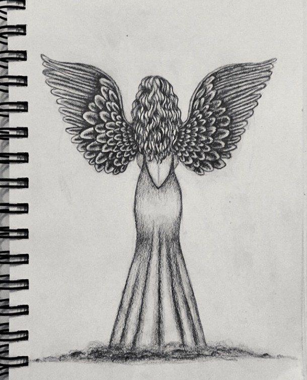 нарисованных карандашом картинки ангелов