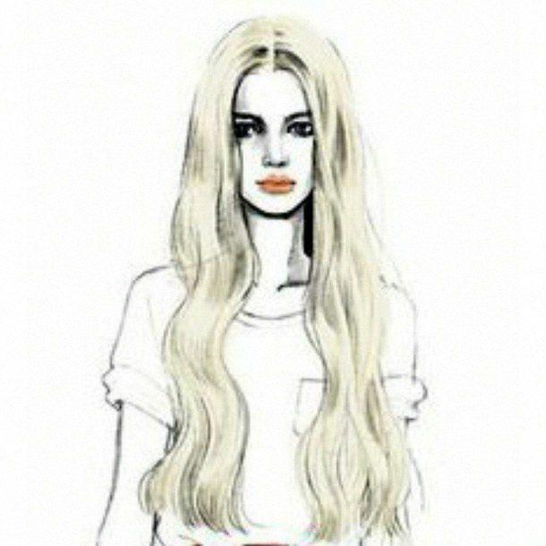 картинки красивых девушек нарисованных