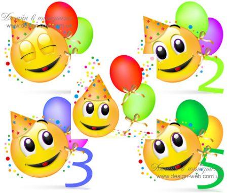 Поздравить с днем рождения из смайлов