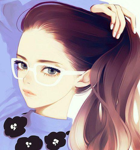 Нарисованная девушка с котом картинки нарисованные