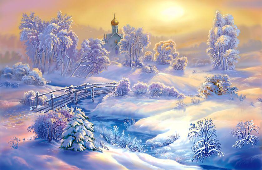 Красивые картинки зимняя сказка (35 фото) • Прикольные ... Снегирь Png