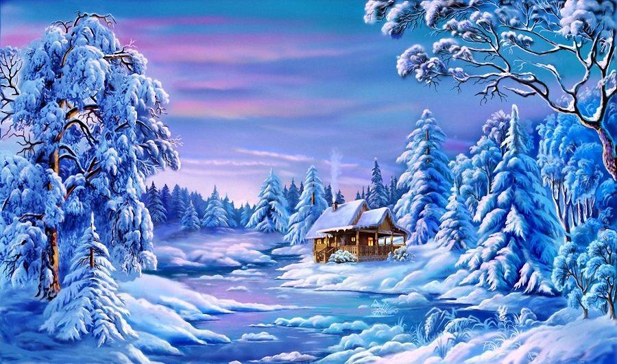 35 - Dessiner un paysage d hiver ...