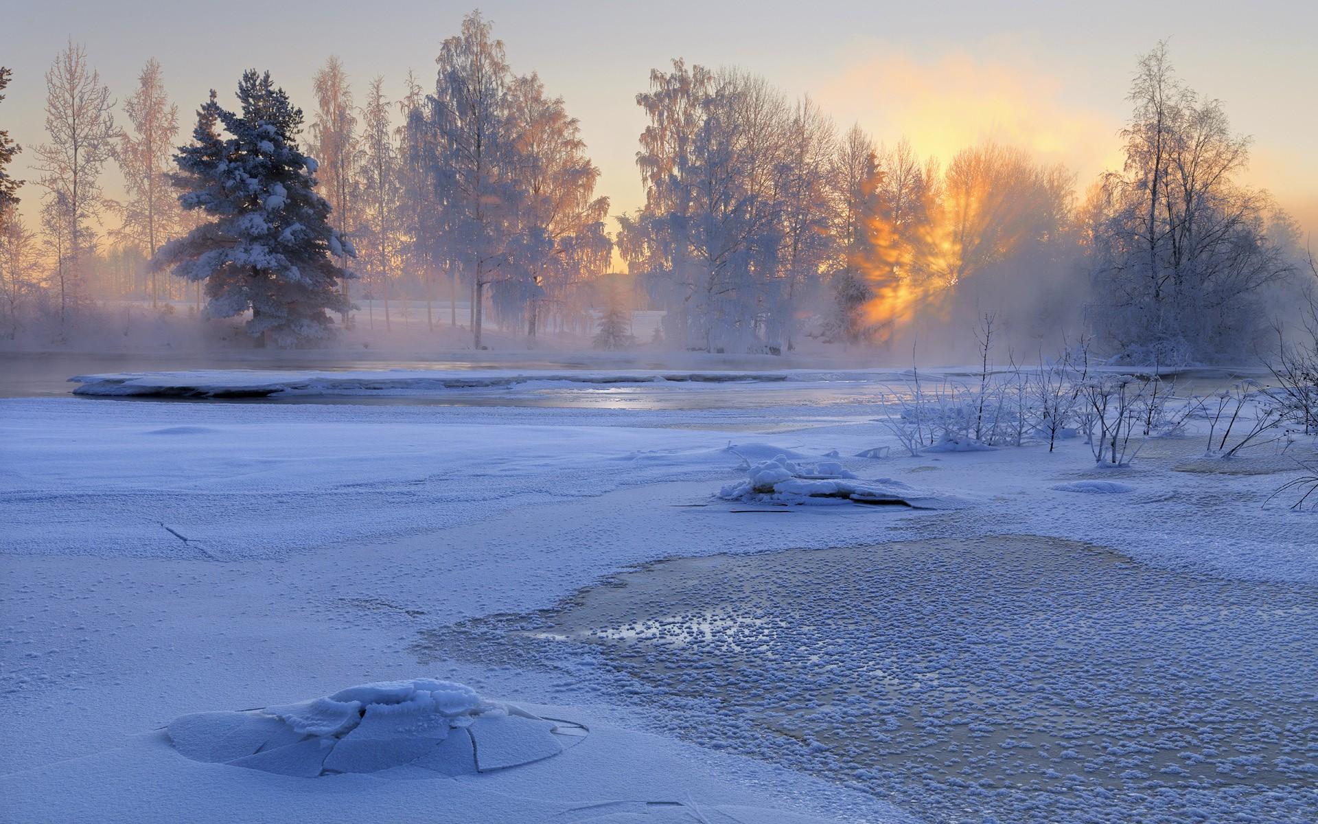 Закат зимний фото