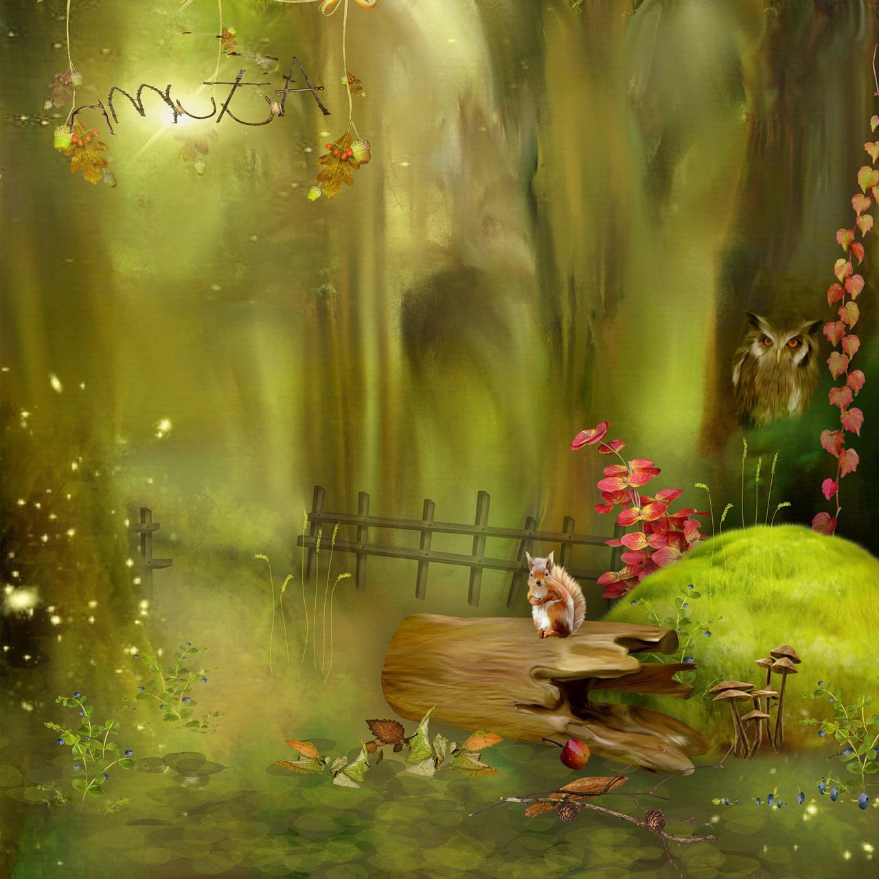 Картинки лес нарисованные