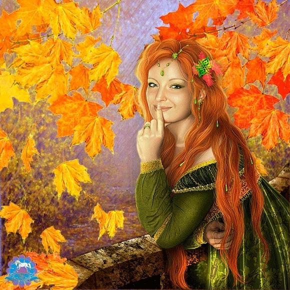 Фото осень золотая девушки