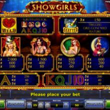 Особенности игрового автомата Showgirls