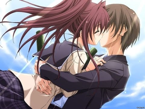 картинки аниме парня и девушки влюбленных