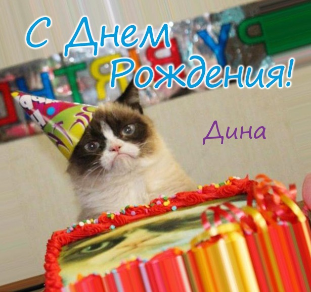 Смешные картинки и открытки С Днем Рождения Дина (25 фото)