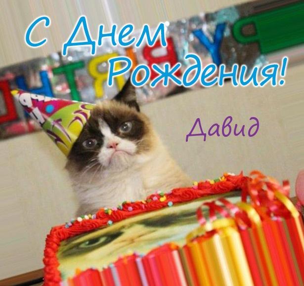 Смешные картинки поздравления С Днем Рождения Давид (23 фото)