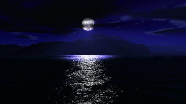 Картинки луна и море