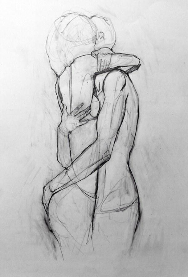 Рисунки Обнаженной Пары